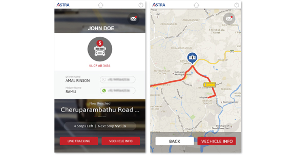 Astra - Fleet Tracking Mobile Application