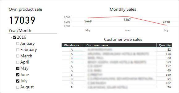 Sales Report through Business Intelligence Platform