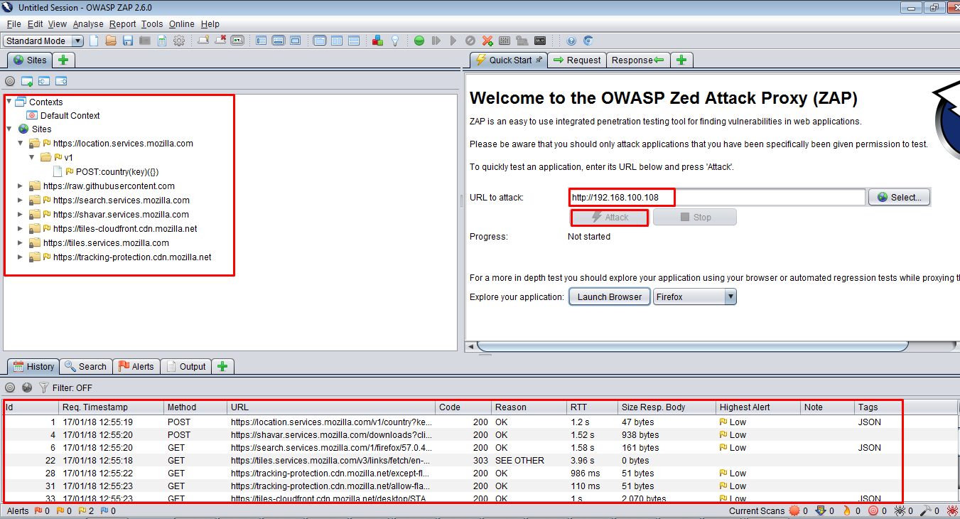 GUI Screenshot - OWASP