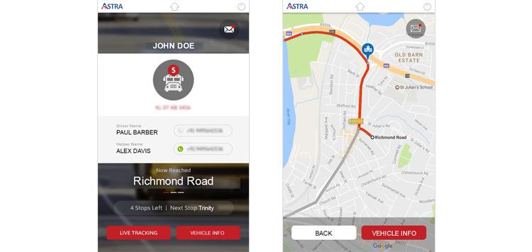 Astra - Fleet Tracking Mobile Application