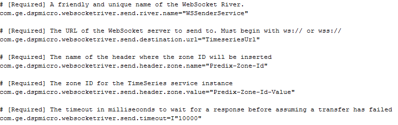 Sample Websocket River Config