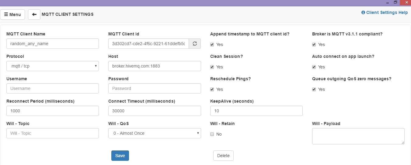 Let's Get MQTT Rolling: ThinkPalm