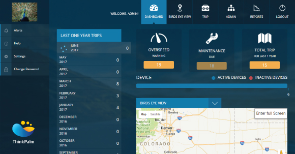 Astra Fleet Management Software - Dashboard