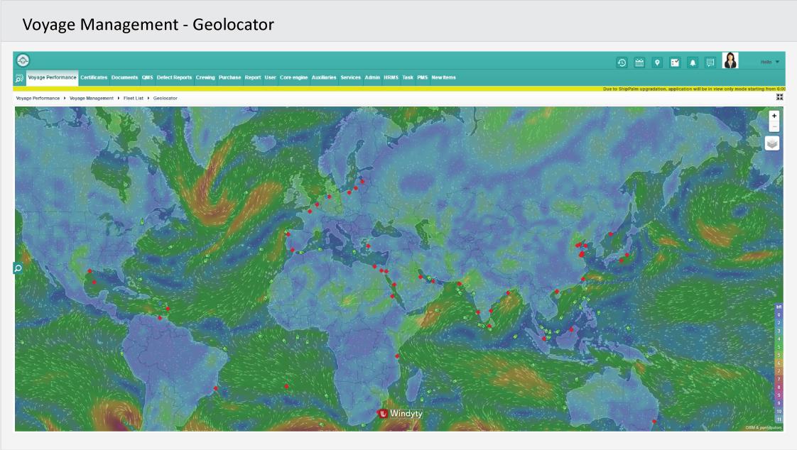 Voyage Management - Geolocator