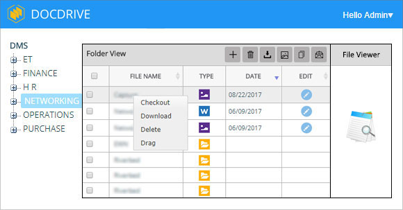 DocDrive Interface