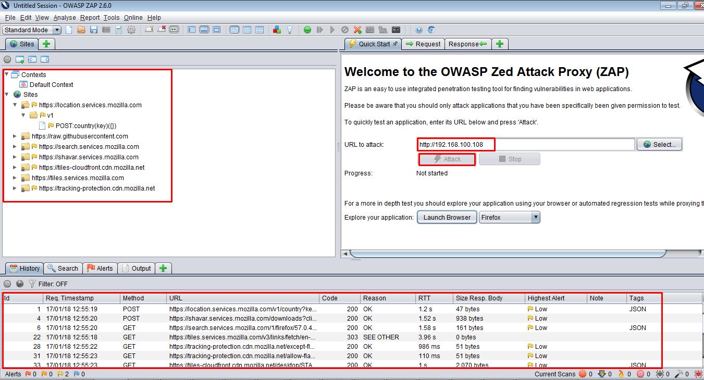 GUI Screenshot - OWASP