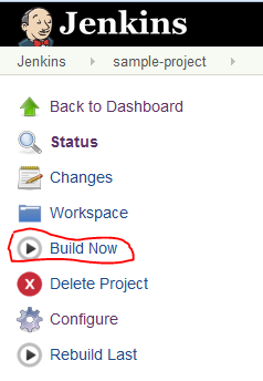 Jenkins - Build Now
