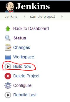 Jenkins - Build Now