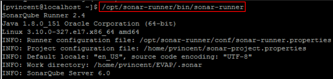 SonarQube - Command Prompt