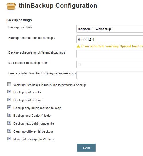 thinBackup Configuration